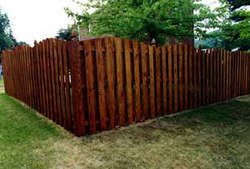 Theres Plenty Of Privacy And Rustic Warmth In This Traditional Fence